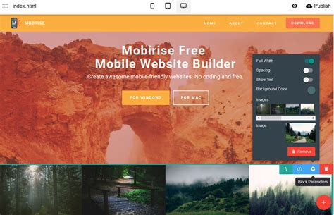 mobirise free website builder software why mobirise free mobile website builder is a smart choice