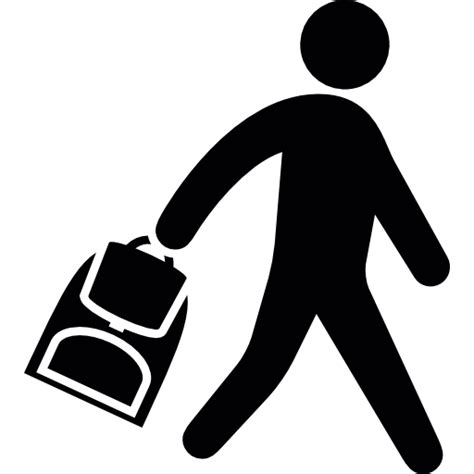 Tas Anak Sekolah 72 anak sekolah membawa a tas ikon gratis dari