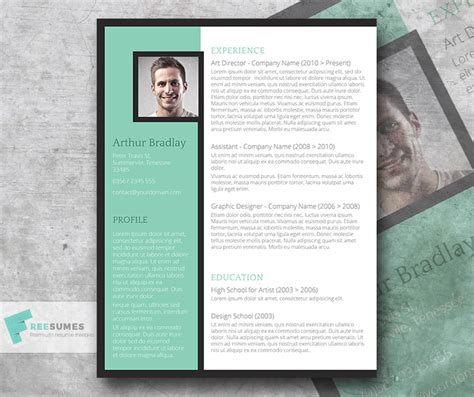 Artistic Resume by The Artistic Jobseeker A Creative Cv Template Freebie