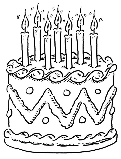 Animations A 2 Z Coloring Pages Of Birthday Cakes Birthday Cake Color Page