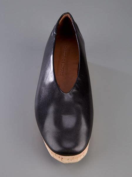 christophe lemaire cork sole shoe  black lyst