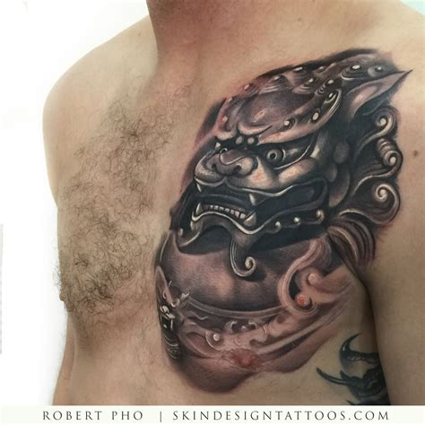 japanese dog tattoo evan dunham foo skin design