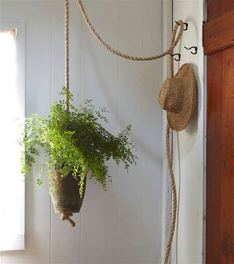 Rope Hanging Planter - create a knotted rope planter for ferns excerpted from