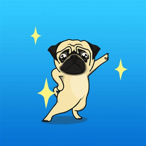 animated pug animated the pug expression stickers by nguyen the anh