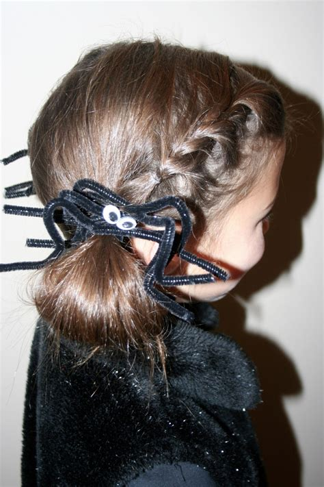 halloween hairstyles spider mommy lessons 101 halloween spider hairstyle