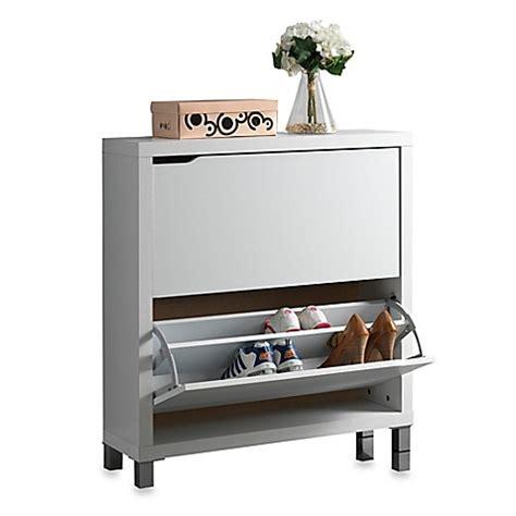 baxton studio shoe cabinet baxton studio simms 2 tier shoe cabinet bed bath beyond