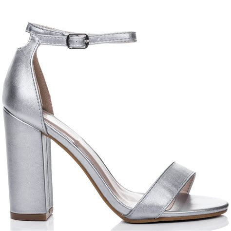 silver sandal heels sass silver sandals shoes from spylovebuy