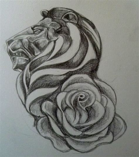 rose and lion tattoo 35 flower design sles and ideas