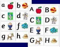 printable alphabet go fish cards pin worksheet matching upper case and lower letters