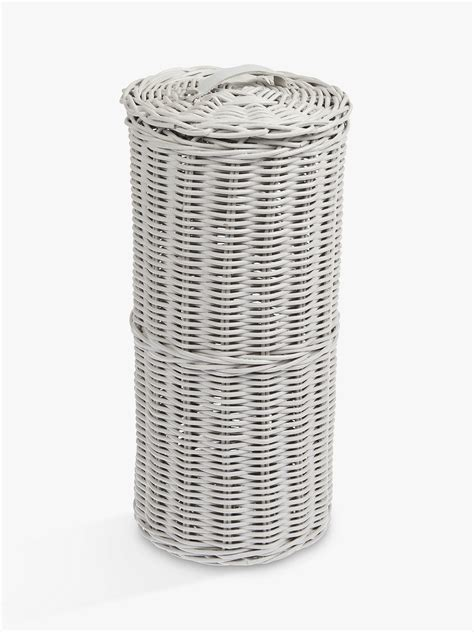 croft collection rattan toilet roll holder grey  john lewis partners