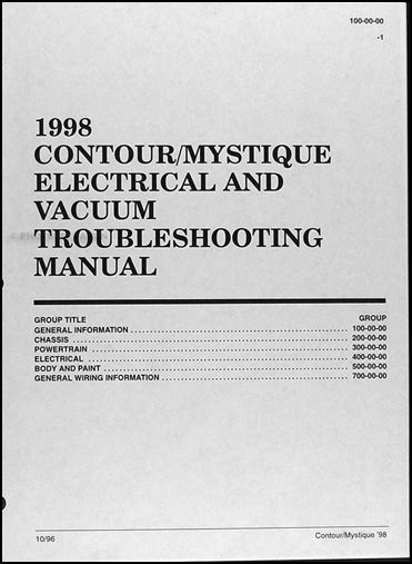 download car manuals 1996 mercury mystique auto manual 1998 ford contour mercury mystique electrical troubleshooting manual