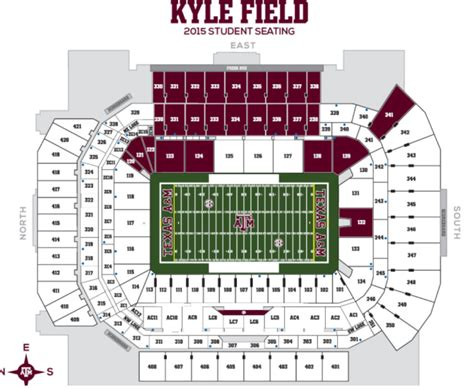 kyle field visitor section is section 126 designated for texas a m students