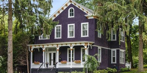 purple home purple exterior paint colors