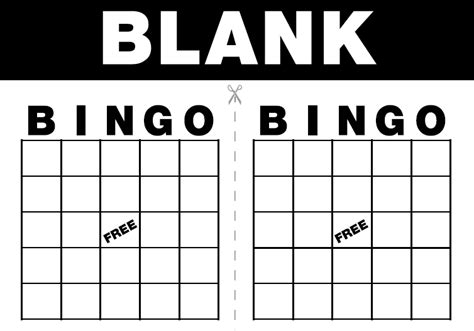 free printable bingo cards template 7 best images of blank printable cards blank