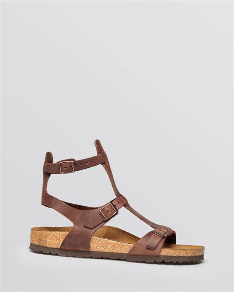 Sandal Preloved Gladiator 1 lyst birkenstock flat gladiator sandals chania in brown