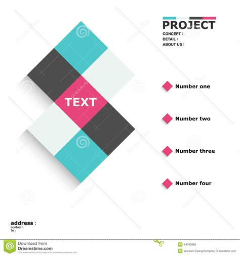 design poster square cube layout stock vector image 44180888