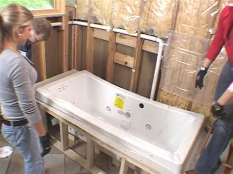 diy bathtub installation how to install a bathtub how to install a bathtub surround when your ready to