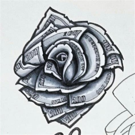 rose made out of money tattoo 100 dollar designs pictures to pin on