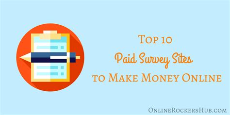 Best Online Survey Sites To Make Money - top 10 paid survey sites to make money online 2017 edition