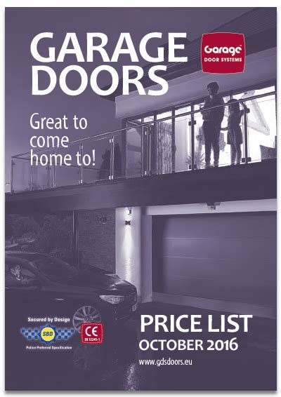 Overhead Door Price List A Brochure Manufacturers Access Garage Doors