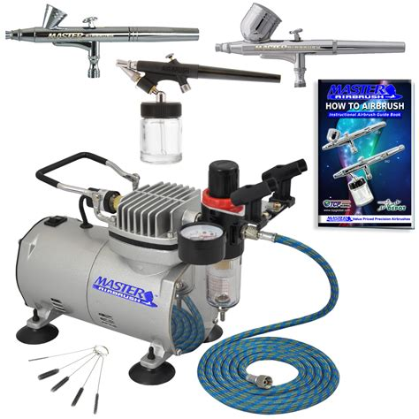 airbrush tattoo kit new 3 airbrush compressor kit dual spray air brush