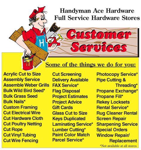 Handyman Gift Card - handyman ace hardware