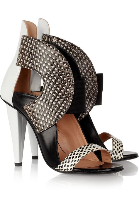 china doll roland roland mouret dolls elaphe and leather sandals in