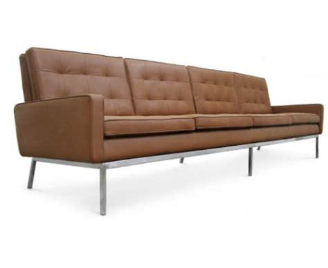 canape florence knoll canap 233 4 places florence knoll cuir marron vintage