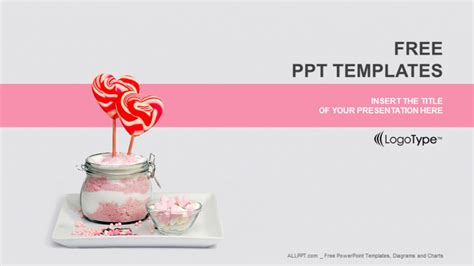sugar lollipops food powerpoint templates