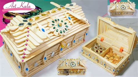 how make a jewelry box how to make jewelry box popsicle stick crafts diy