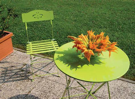sedie da giardino in ferro set da giardino addy in ferro colorato con tavolo e 2