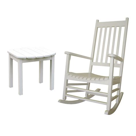 Lowes Porch Chairs by Shop International Concepts White Acacia Patio Rocking