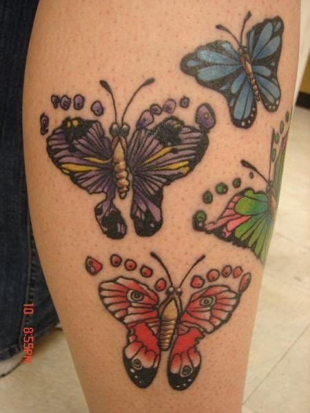 butterfly footprint tattoos footprint butterfly images awesome tattoos