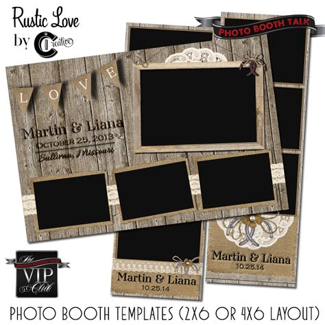 photo booth frame cards template rustic by ci creative photo booth talk