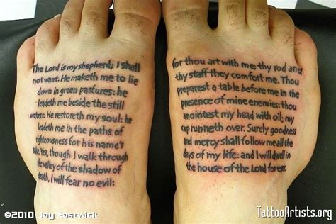 23 psalm tattoo design palmar verses tattoomagz designs