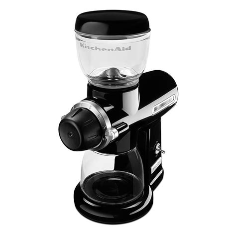 kitchenaid pro line series burr coffee mill onyx black kitchenaid kpcg100ob burr coffee mill w 15 grind sizes