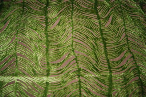 peacock upholstery fabric peacock plume luxurious cut velvet citrus green heavy