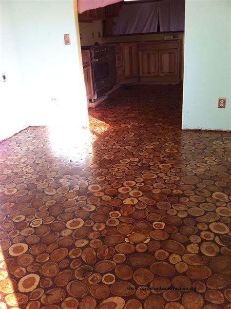 Cord Wood Floor cordwood flooring by in arizona cordwood
