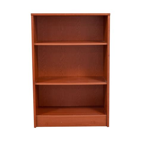 second hand bookcases for sale 74 off three shelf wood bookcase storage