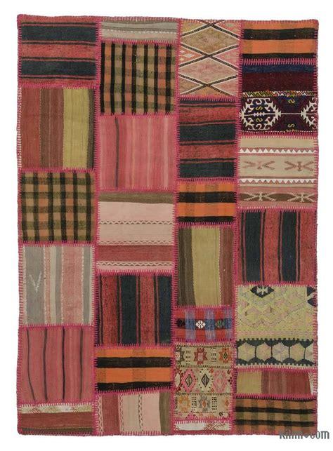Kilim Patchwork Rug - k0015185 kilim patchwork rug kilim rugs overdyed