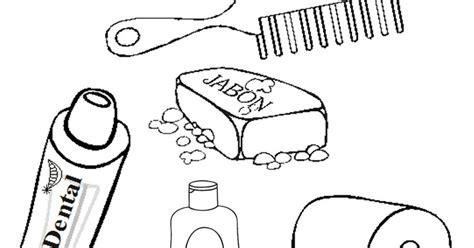 imagenes para colorear utiles de aseo personal 100 ideas dibujos para colorear utiles de aseo personal