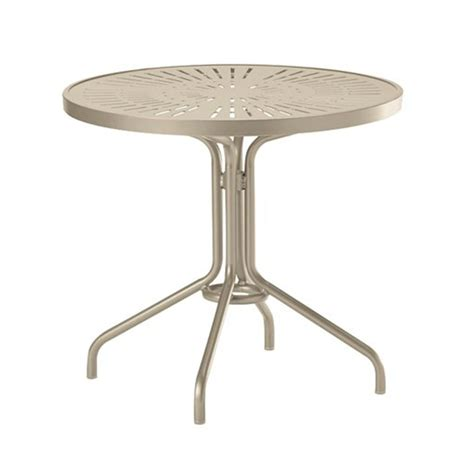 30 quot la stratta punched aluminum top dining table