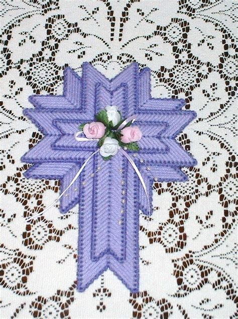 easter cross   plastic canvas diy crafts