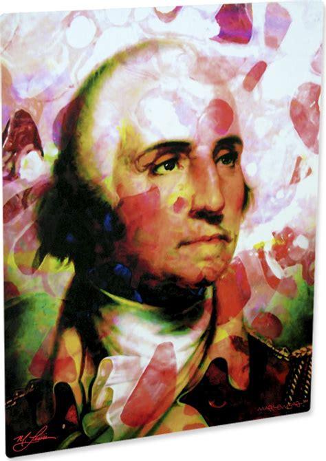biography of george washington by mark mastromarino george washington art print painting commanding wall decor