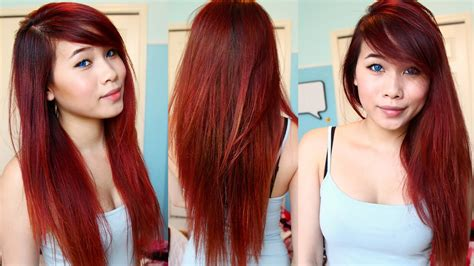 boxed hair die red to blonde dying hair red at home drugstore box dye youtube
