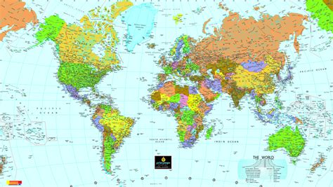 the map world political map size