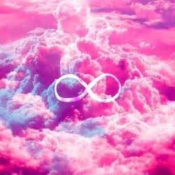Infinity Cloud Girly Infinity Symbol Bright Pink Clouds Sky Print