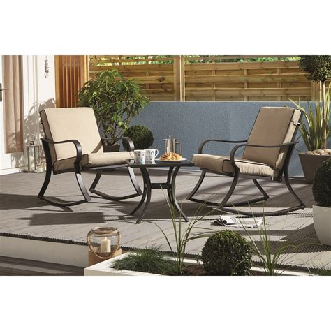 Nevada Rocking Bistro Set Bistro Sets Outdoor Patio Furniture