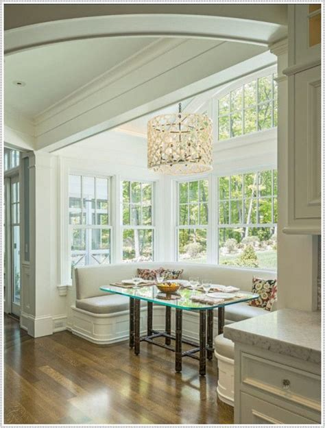 Bay Window Banquette by 35 Brilliant Breakfast Nook Designs