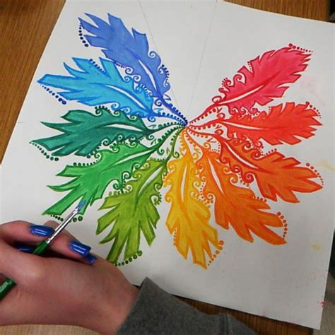 pattern art projects high school acrylics paint colors and color wheels on pinterest